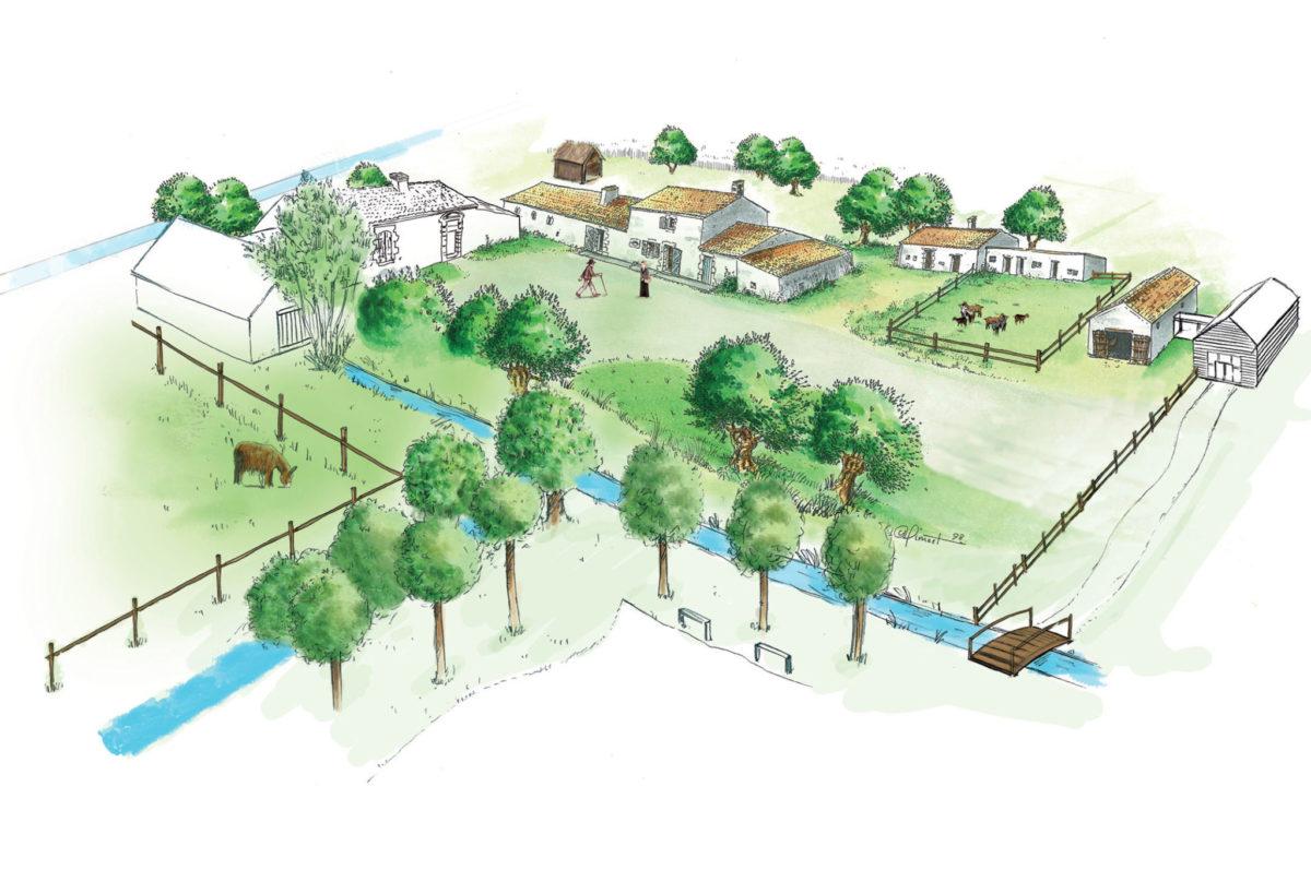 Plan de l'écomusée Maison du Maître de Digues à Chaillé-les-Marais